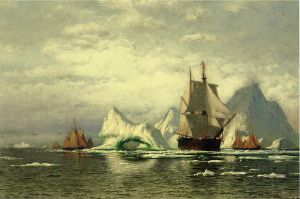 Arctic Whaler Homeward Bound Among the Icebergs - William Bradford Oil Painting