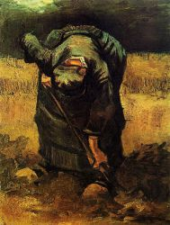 Peasant Woman Digging - Oil Painting Reproduction On Canvas