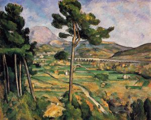 Mount Sainte-Victoire as seen from Bellevue - Paul Cezanne Oil Painting