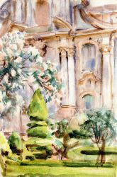 A Palace and Gardens, Spain - John Singer Sargent Oil Painting