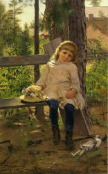 Golden Locks - John George Brown Oil Painting