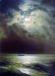 The Black Sea at Night - Oil Painting Reproduction On Canvas