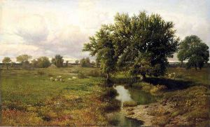 Summer Pastures - William Mason Brown Oil Painting