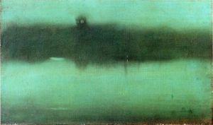 Nocturne: Grey and Silver - James Abbott McNeill Whistler Oil Painting