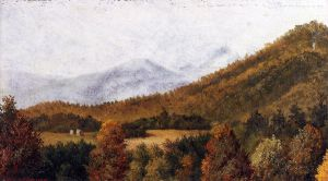 Wooded Mountain Scene in North Carolina - William Aiken Walker Oil Painting