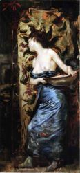 Femme Mi-Nue - Oil Painting Reproduction On Canvas