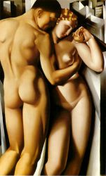 Adam and Eve - Tamara de Lempicka Oil Painting
