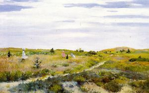 Along the Path at Shinnecock - William Merritt Chase Oil Painting