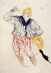 The Sailor's Sopng, at the 'Star', Le Havre - Henri De Toulouse-Lautrec Oil Painting