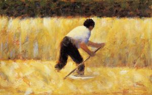 The Mower - Georges Seurat Oil Painting
