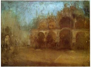 Nocturne: Blue and Gold-St Mark's, Venice - James Abbott McNeill Whistler Oil Painting