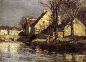Canal, Schlessheim - Theodore Clement Steele Oil Painting