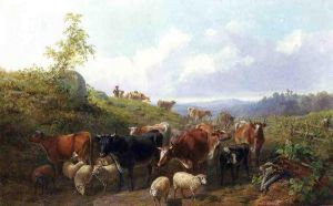 Down the road in Franklin County New York - Arthur Fitzwilliam Tait Oil Painting