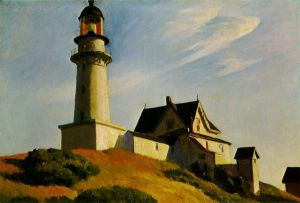The Lighthouse at Two Lights - Edward Hopper Oil Painting