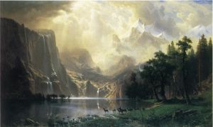 Among the Siera Navada Mountains, California - Albert Bierstadt Oil Painting