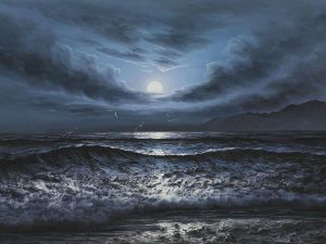 Dark Waters II - Oil Painting Reproduction On Canvas