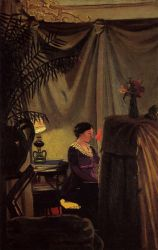 Gabrielle Vallotton at the Piano - Felix Vallotton Oil Painting
