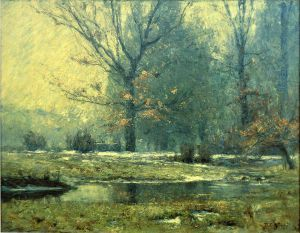 Creek in Winter - Theodore Clement Steele Oil Painting