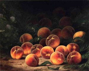 Bounty of Peaches - William Mason Brown Oil Painting