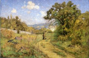 September - Theodore Clement Steele Oil Painting