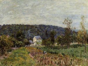 An Autumn Evening near Paris - Alfred Sisley Oil Painting