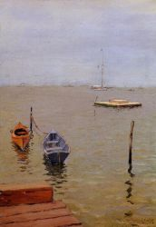 A Stormy Day, Bath Beach - William Merritt Chase Oil Painting