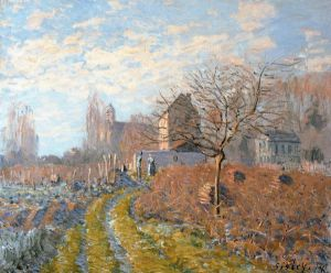 Hoar Frost-St. Martin's Summer (Indian Summer) - Alfred Sisley Oil Painting