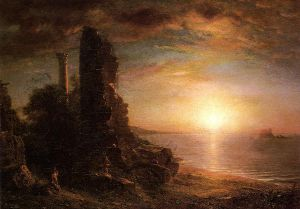 Landscape in Greece - Frederic Edwin Church Oil Painting