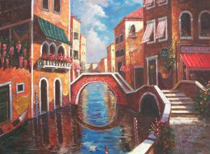 Venice Canal - Oil Painting Reproduction On Canvas