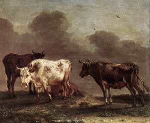 Cows in a Meadow - Paulus Potter Oil Painting