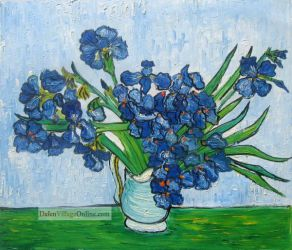 Vase with Irises,May,1890