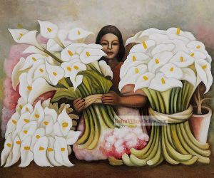 Vendedora de Alcatraces by Diego Rivera