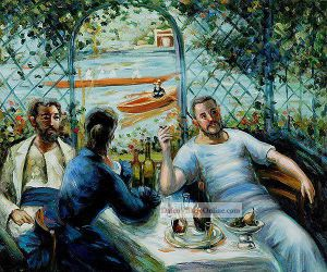 Lunch at the Resturant Fournaise (The Rowers' Lunch) by Pierre Auguste Renoir.j
