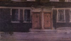 Chelsea Houses - James Abbott McNeill Whistler Oil Painting
