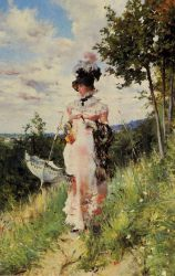 The Summer Stroll - Oil Painting Reproduction On Canvas
