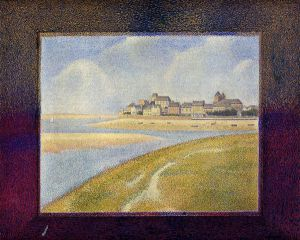 Le Crotoy, Upstream - Georges Seurat Oil Painting