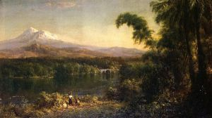 Figures in an Ecuadorian Landscape - Frederic Edwin Church Oil Painting