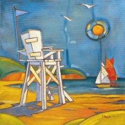 Yacht in the Sun - Oil Painting Reproduction On Canvas