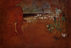 Indian Decor - Henri De Toulouse-Lautrec Oil Painting