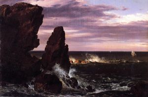 Coast Scene - Frederic Edwin Church Oil Painting