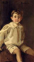 Portrait of Basel Mundy -   Joaquin Sorolla y Bastida Oil Painting
