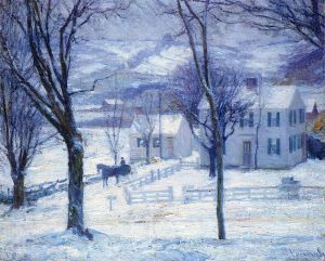 Teacher Going Home - Robert Vonnoh Oil Painting
