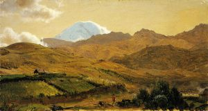Mount Chimborazo, Ecuador II - Frederic Edwin Church Oil Painting