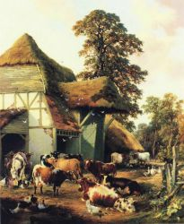 A Farm in Kent - Thomas Sidney Cooper Oil Painting
