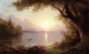 Landscape in the Adirondacks - Frederic Edwin Church Oil Painting