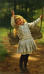 The Swing II - John George Brown Oil Painting