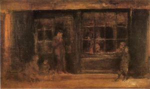 A Shop - James Abbott McNeill Whistler Oil Painting