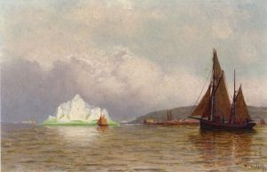 Labrador Fishing Settlement - William Bradford Oil Painting