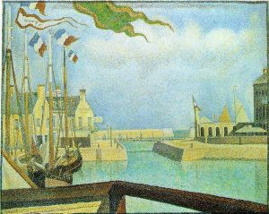 Port-en-Bassin-Sunday - Georges Seurat Oil Painting