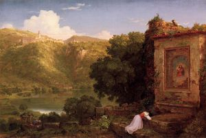 Il Pensaro - Thomas Cole Oil Painting